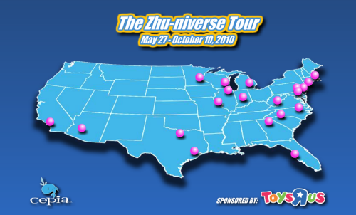 Zhu-niverse Tour Across America, Summer 2010